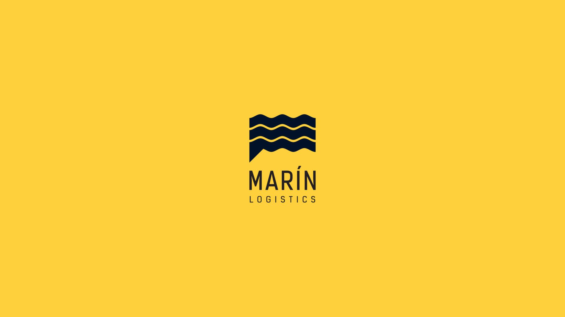 Logotipo Marin Logistics Pliegues