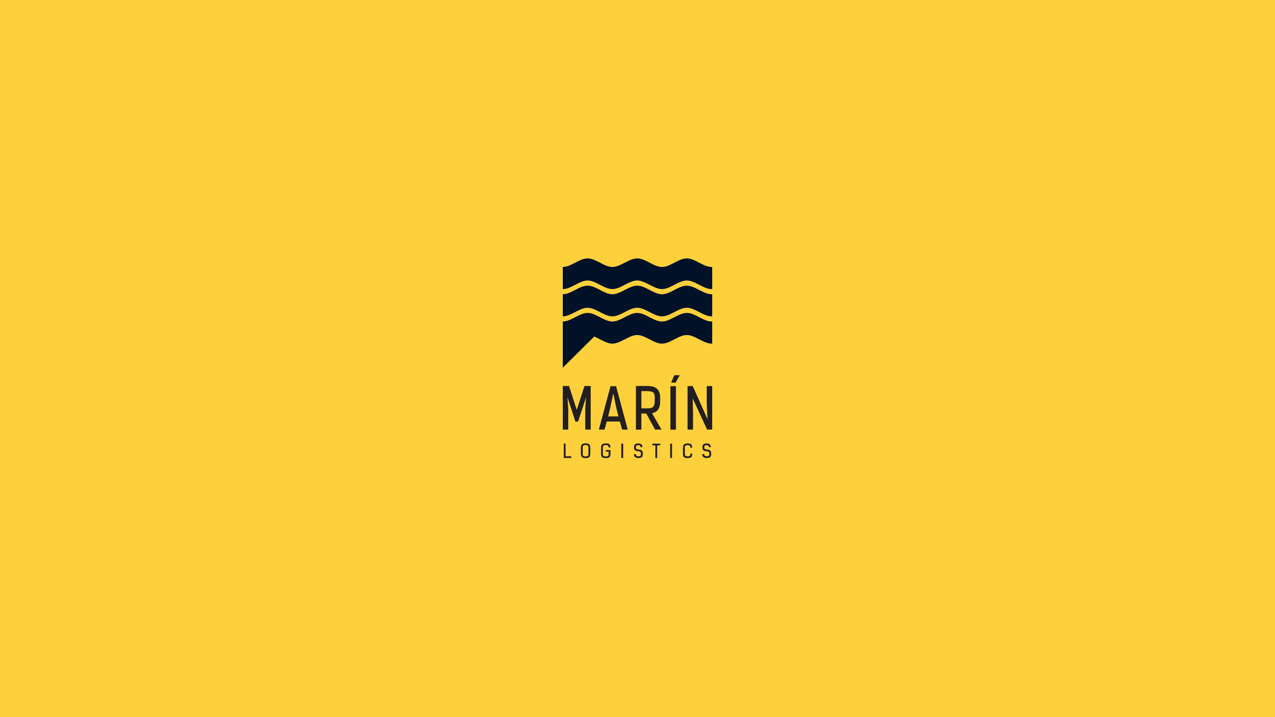 Logotipo Marin Logistics Pliegues